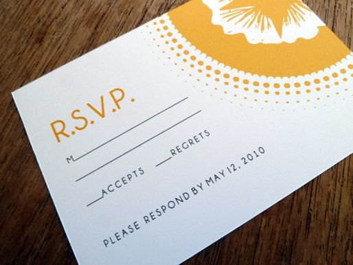 wedding guests rsvp